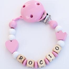 Chupetero personalizado basico - rosa