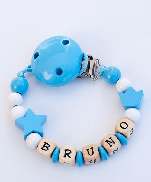 Chupetero personalizado basico - azul