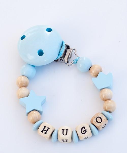 Chupetero personalizado basico - azul claro