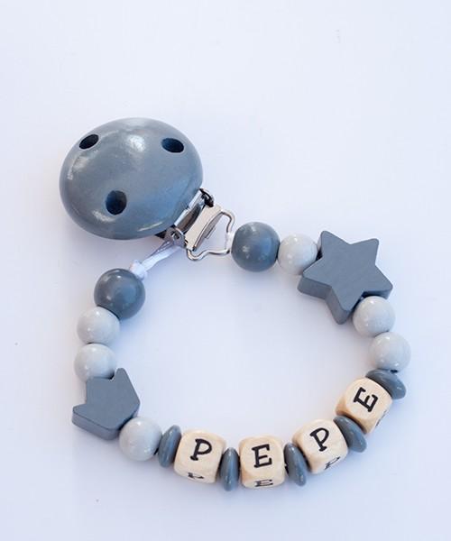 Chupetero personalizado basico - gris