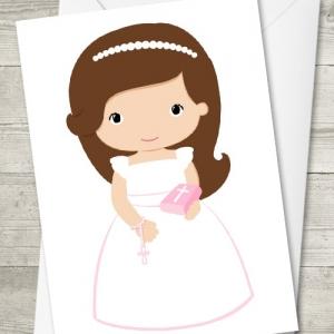 Tarjeta de comunión niña Bilblia - Regalos personalizados