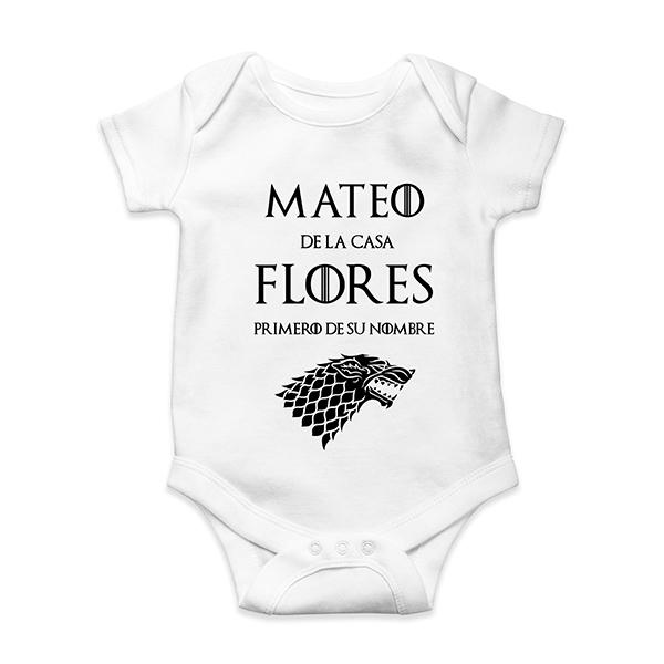 837edef96 Body bebé personalizado Juego de Tronos | En vez de Flores