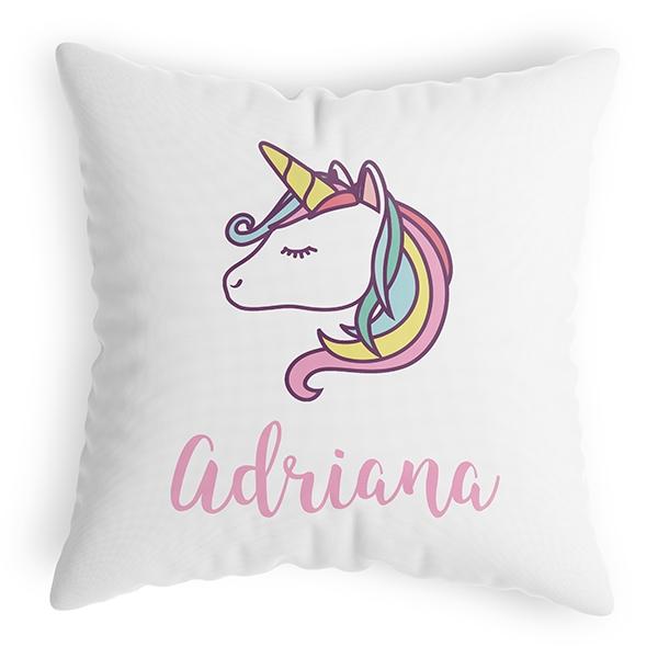 Cojín personalizado unicornio – En vez de Flores